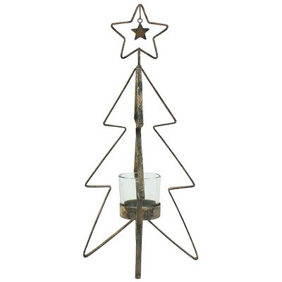 Tomma Iron Xmas Tree Tealight Holder