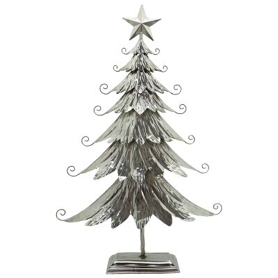 Swirly Iron Christmas Tree Decor, Large