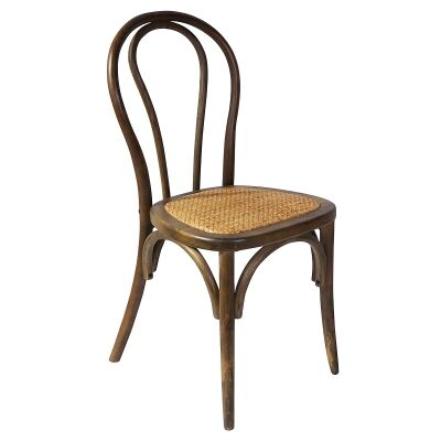 Replica Michael Thonet No.18 Chair with Rattan Seat, Walnut