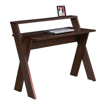 Xeno Wooden 106cm Writing Desk - Walnut Stain