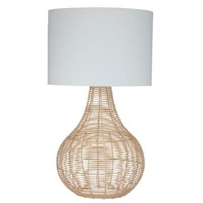 Shore Rattan Base Table Lamp