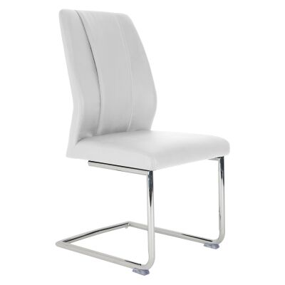 Nicholas PU Leather Dining Chair, White