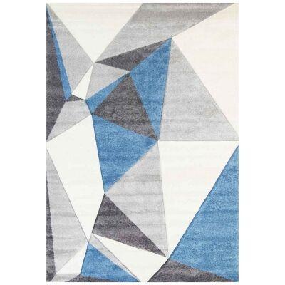 Yalda Shaffer Modern Rug, 290x200cm, Ivory / Blue
