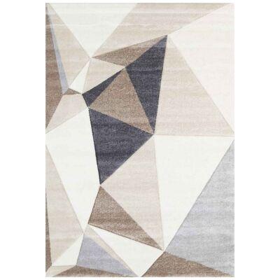 Yalda Shaffer Modern Rug, 330x240cm, Beige / Charcoal