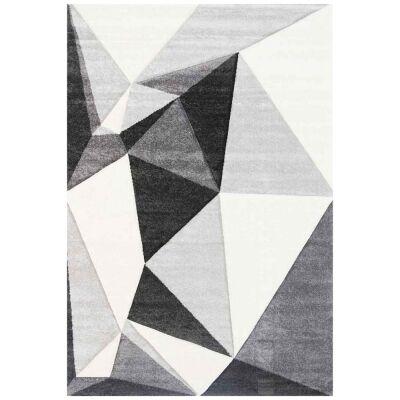 Yalda Shaffer Modern Rug, 290x200cm, Ivory / Black
