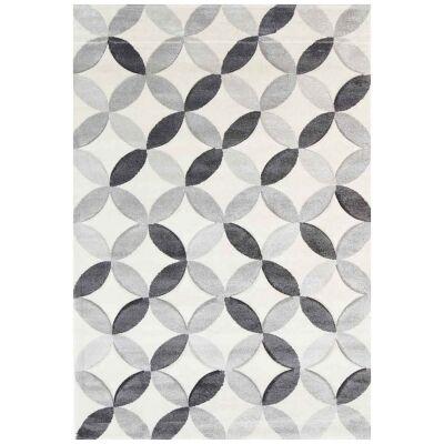 Yalda Agnes Modern Rug, 330x240cm, Ivory / Grey