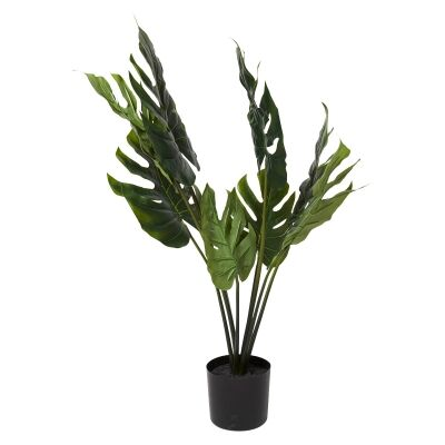 Potted Artificial Grand Split Philo Bush, 63cm