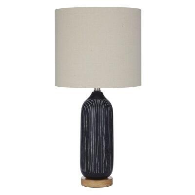 Everett Ceramic Base Table Lamp, Black