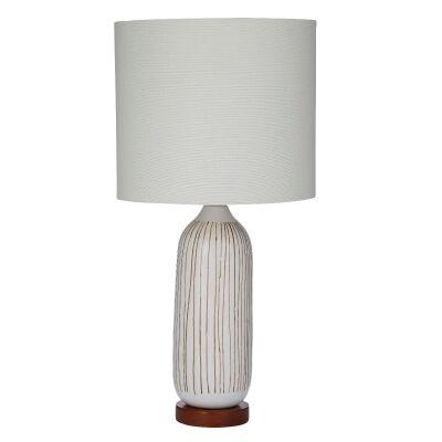 Everett Ceramic Base Table Lamp, White