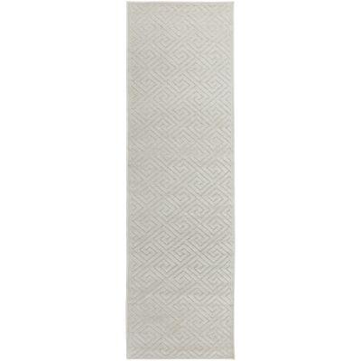 York Alice Modern Runner Rug, 400x80cm, Off White