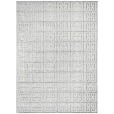 York Brenda Modern Rug, 230x160cm, Silver