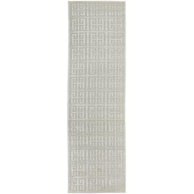 York Brenda Modern Runner Rug, 400x80cm, Off White