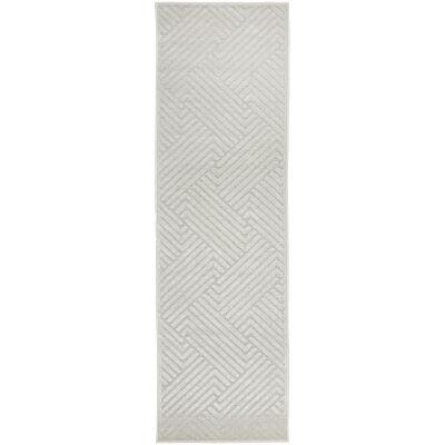 York Cindy Modern Runner Rug, 400x80cm, Off White
