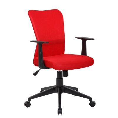 Ashley Fabric Office Chair, Red