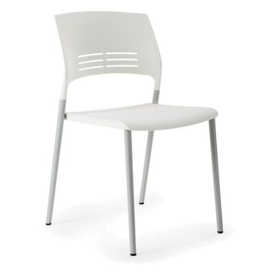 Eternia Stackable Side Chair, White