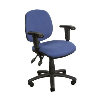 Task Fabric Office Chair with Arms, Blue