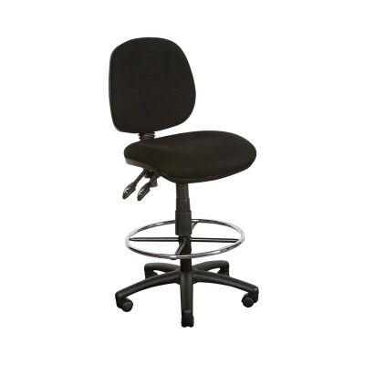 Task Fabric Drafting Chair, Black
