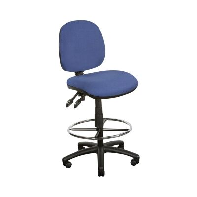 Task Fabric Drafting Chair, Blue