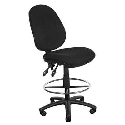 Typist Fabric High Back Drafting Chair