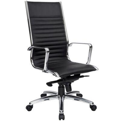 Cogra PU Leather High Back Executive Chair, Black