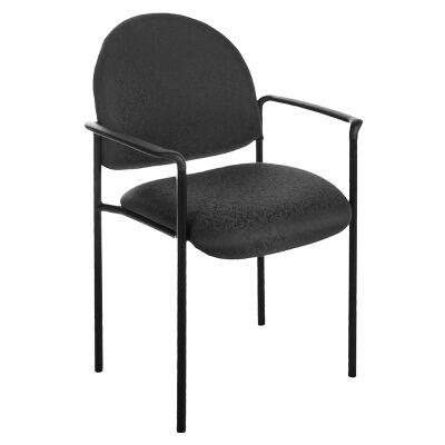 Felman Stackable Fabirc Visitor Armchair, Black