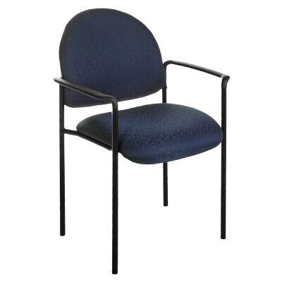 Felman Stackable Fabirc Visitor Armchair, Blue