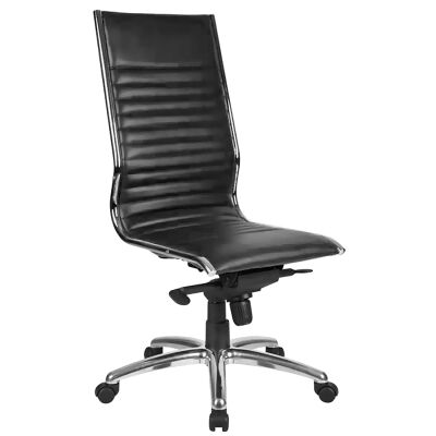 Nordic PU Leather High Back Executive Chair, Black