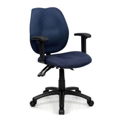 Sabina Blue Chair with Arms - YS43B