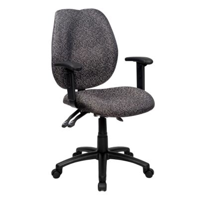 Sabina Fabric Office Chair with Arms, Grey