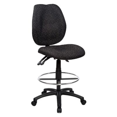 Sabina Fabric Office Drafting Chair, Black