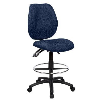 Sabina Fabric Office Drafting Chair, Blue