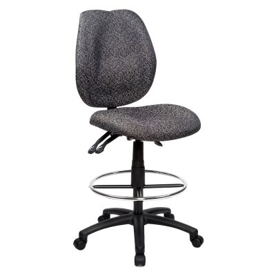 Sabina Fabric Office Drafting Chair, Grey
