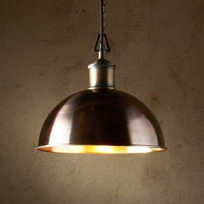 Essen Solid Brass Dome Pendant Light, Small
