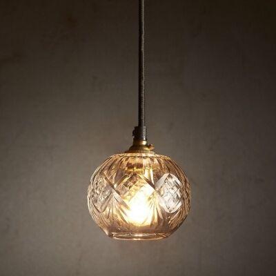 Stewart Cut Glass Pendant Light
