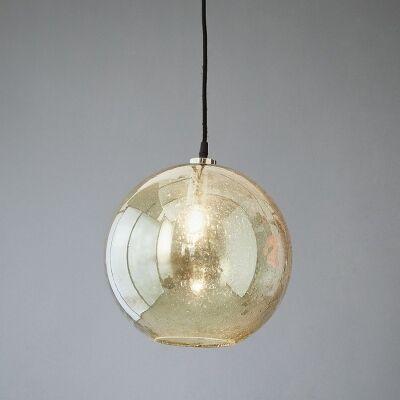 Lustre Glass Pendant Light, Ball, Pale Green