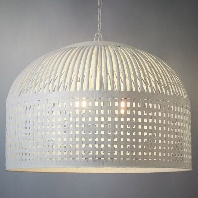 Esch Iron Pendant Light, Extra Large, Vintage White