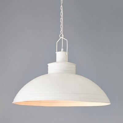 Sheldon Iron Pendant Light, White