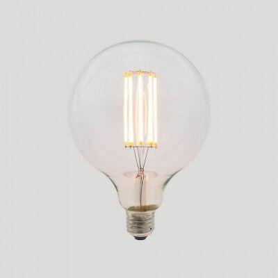 G125 LED Filament Light Bulb, E27, Clear