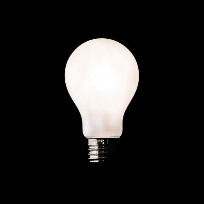 A60 LED Filament Light Bulb, E27, Porcelain Frosted