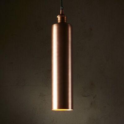 Zurich Metal Tube Pendant Light, Antique Copper