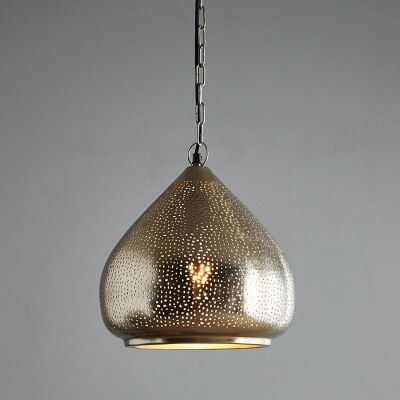 Neptune Perforated Metal Pendant Light, Large