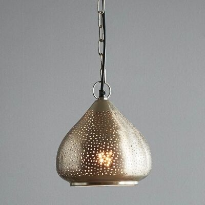 Neptune Perforated Metal Pendant Light, Small