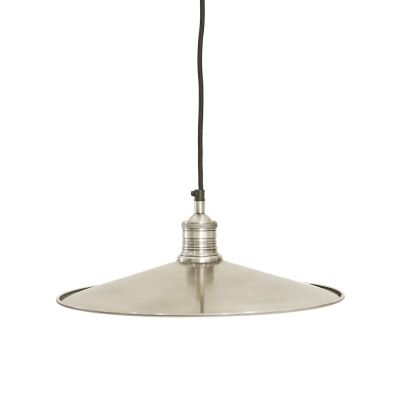 Forbes II Metal Dish Pendant Light, Large, Antique Silver