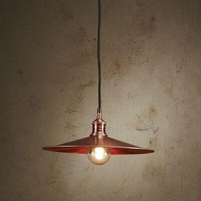 Forbes II Metal Dish Pendant Light, Large, Antique Copper