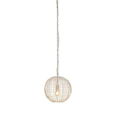 Cray Metal Wire Ball Pendant Light, Small, White