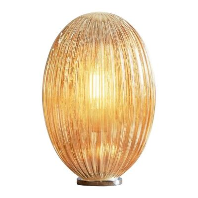 Costolette Ribbed Glass Pod Table Lamp, Medium, Champagne