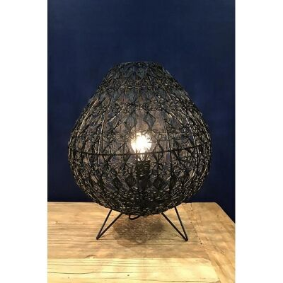 Cocoon Metal Wire Table Lamp, Large, Black