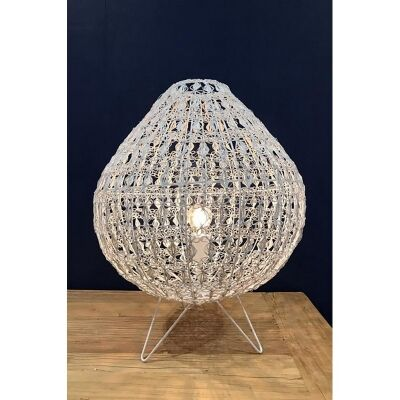 Cocoon Metal Wire Table Lamp, Large, White