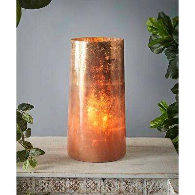 Nouveau Art Glass Cylinder Table Lamp