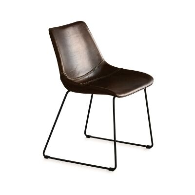 Don Buffalo Leather Dining Chair